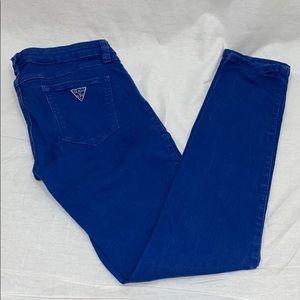 Indigo Blue Guess skinny stretch jeans, size 26